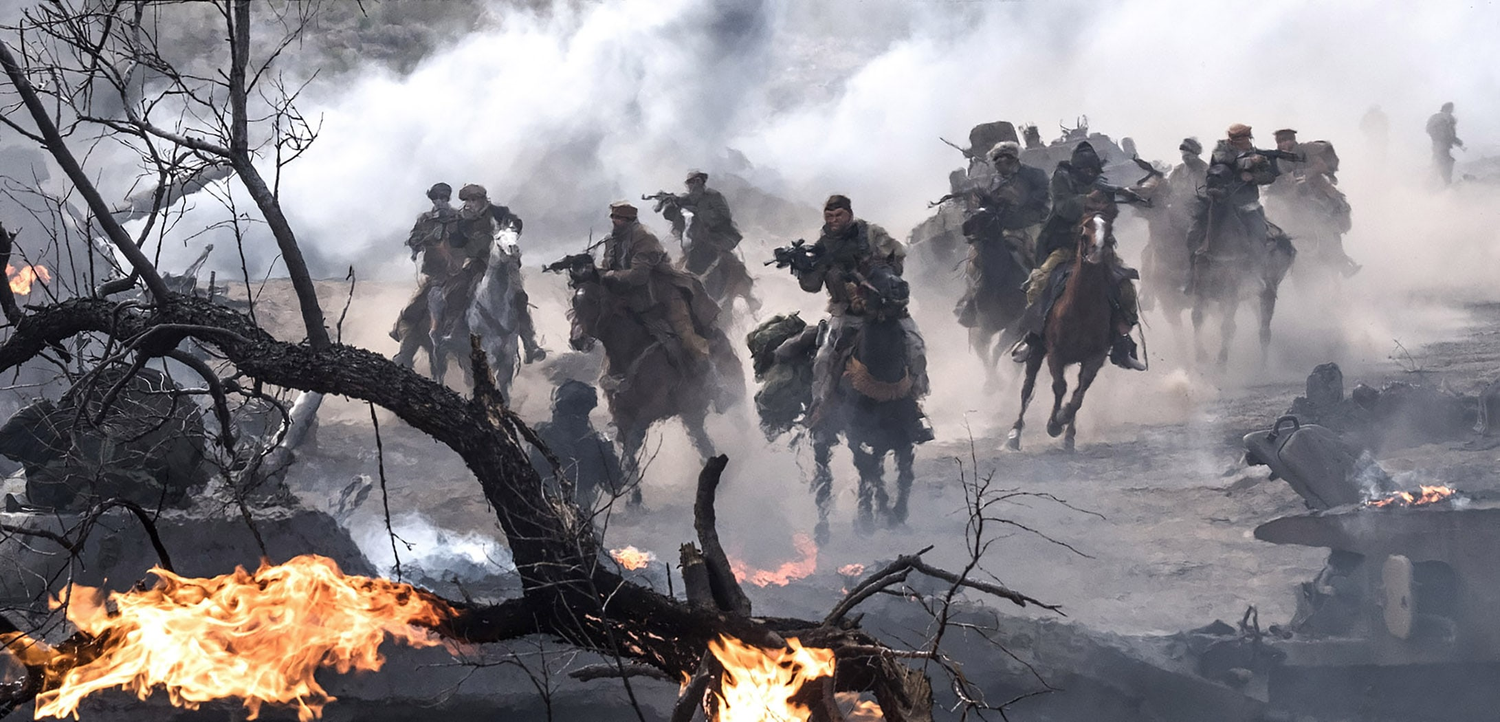 "A scene from Jerry Bruckheimer Films', Black Label Media' and Alcon Entertainment's war drama ""12 STRONG,"" a Warner Bros. Pictures release. Photo by David James"