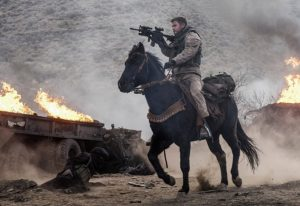 """CHRIS HEMSWORTH as Captain Nelson in Jerry Bruckheimer Films', Black Label Media' and Alcon Entertainment's war drama """"12 STRONG,"""" a Warner Bros. Pictures release. Photo by David James"""