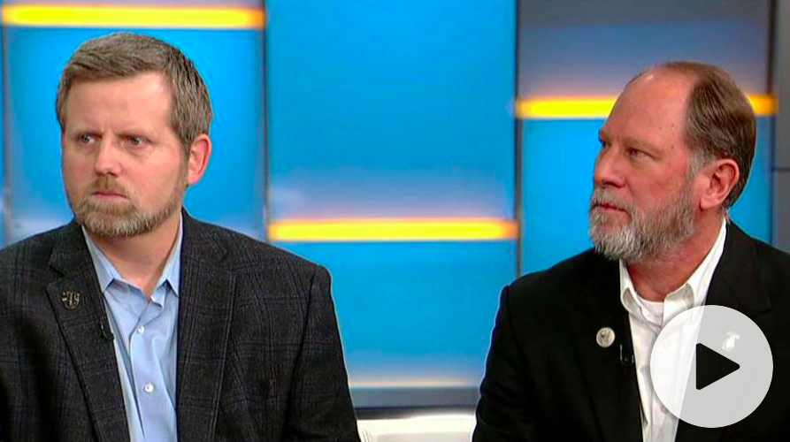 Mark Nutsch and Bob Pennington, two of the Green Berets depicted in 12 Strong, appear on Fox & Friends